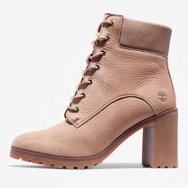 Allington Heeled 6 Inch Boot for Women in Light Brown-