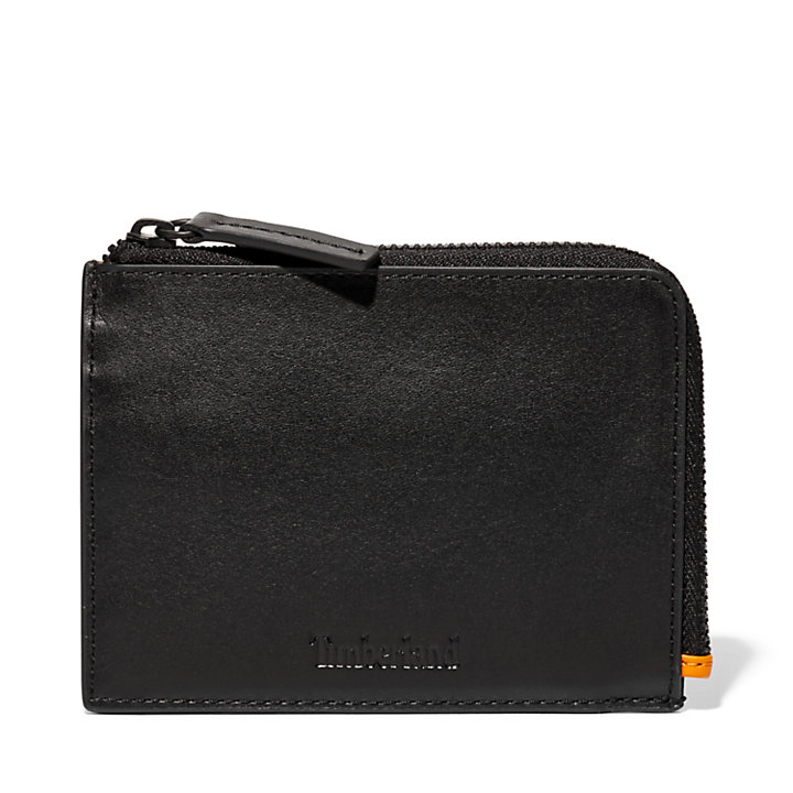 Alpine View Leather Wallet for Men in Black-