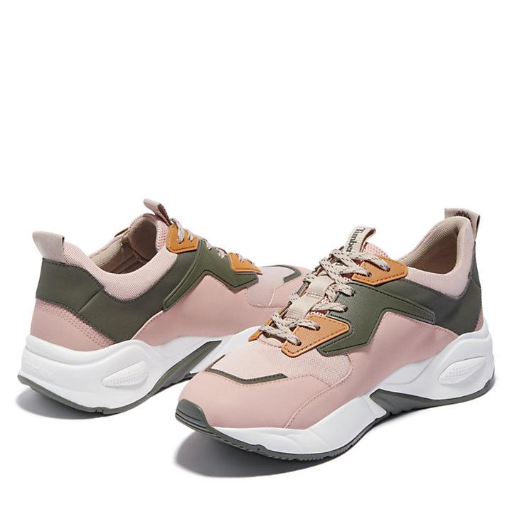Zapatilla de Cuero Delphiville para Mujer en rosa claro-