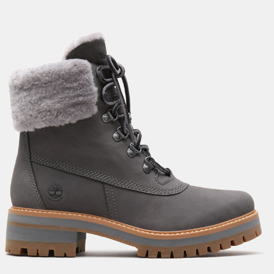 Courmayeur Valley 6 Inch Shearling Boot for Women in Grey | Timberland
