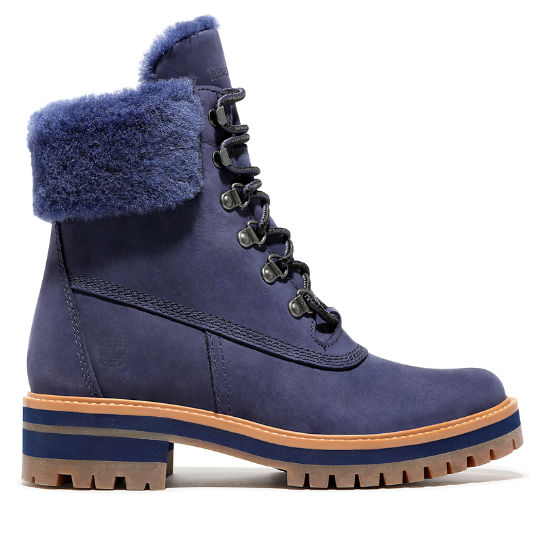 Courmayeur Valley 6 Inch Shearling Boot for Women in Blue | Timberland