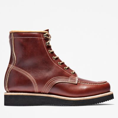 Bottine+Moc+Toe+American+Craft+pour+homme+en+marron+fonc%C3%A9
