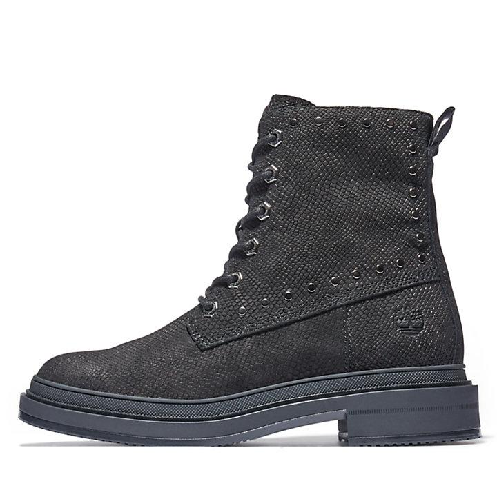 Lisbon Lane 6-Inch-Stiefel für Damen in schwarzem Echsen-Print-
