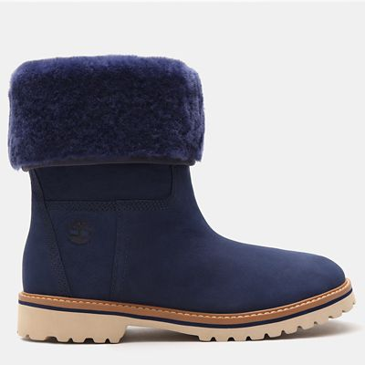 Chamonix+Valley+Shearling+Boot+for+Women+in+Blue
