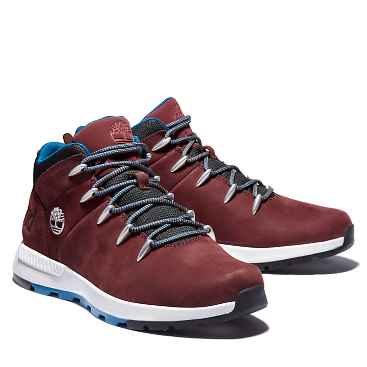 Sprint Trekker Mid Boot for Men in Burgundy-