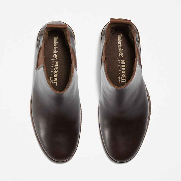 Dalston Vibe Chelsea Boot for Women in Dark Brown-