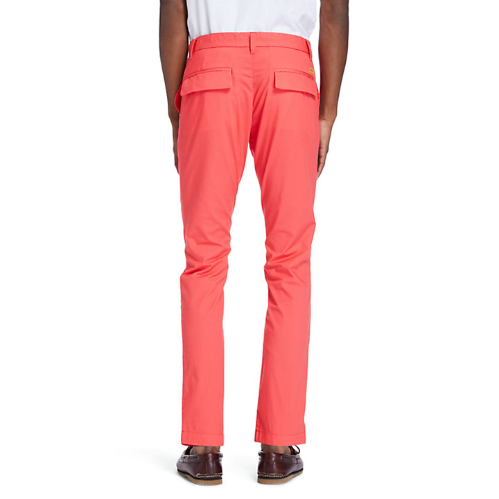 Chino stretch Sargent Lake pour homme en corail-