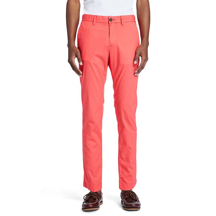 Pantaloni Chino da Uomo Elasticizzati Sargent Lake in color corallo-