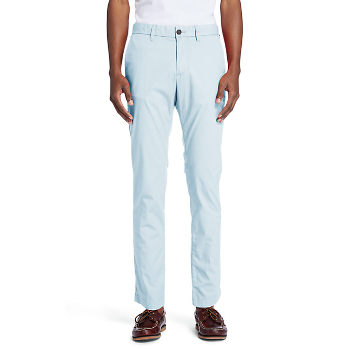 Sargent Lake Stretch Chinos for Men in Light Blue-