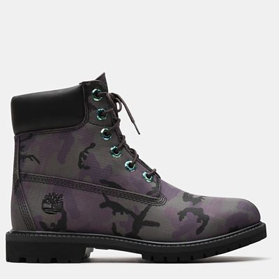 6+Inch+Iridescent+Premium+Boot+for+Women+in+Black+Camo