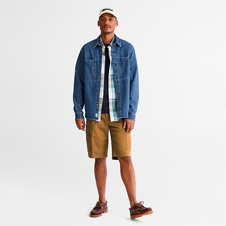 Cargo Shorts for Men in Dark Yellow-