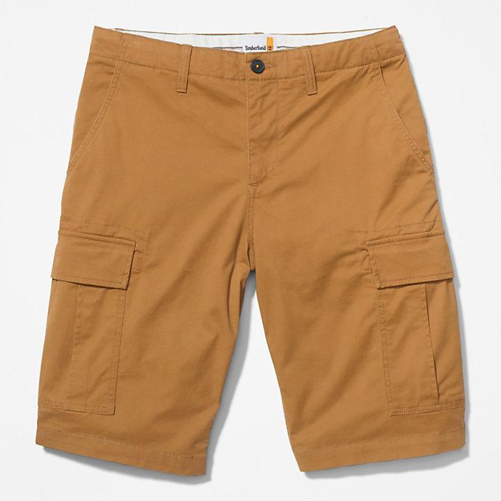 Short cargo pour homme en jaune foncé-