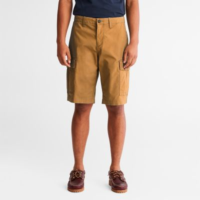Cargo+Shorts+for+Men+in+Dark+Yellow