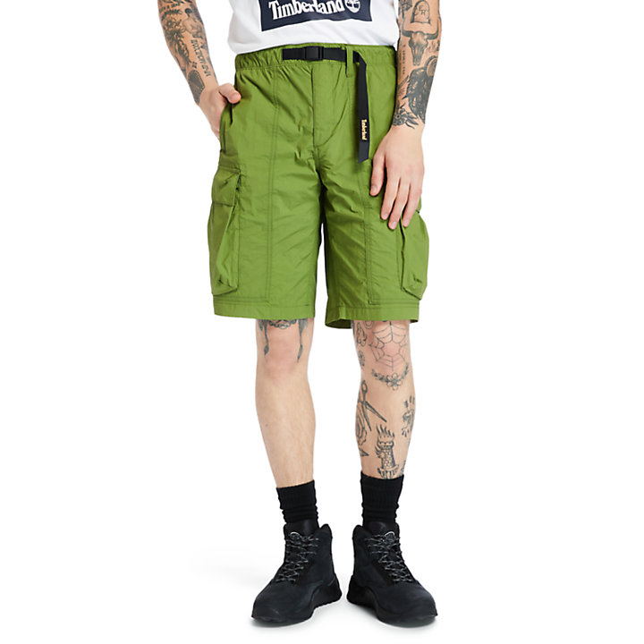 Field Trip Quick-Dry Shorts for Men in Green-
