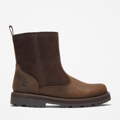 Courma+Kid+Fleece+Lined+Boot+for+Youth+in+Dark+Brown