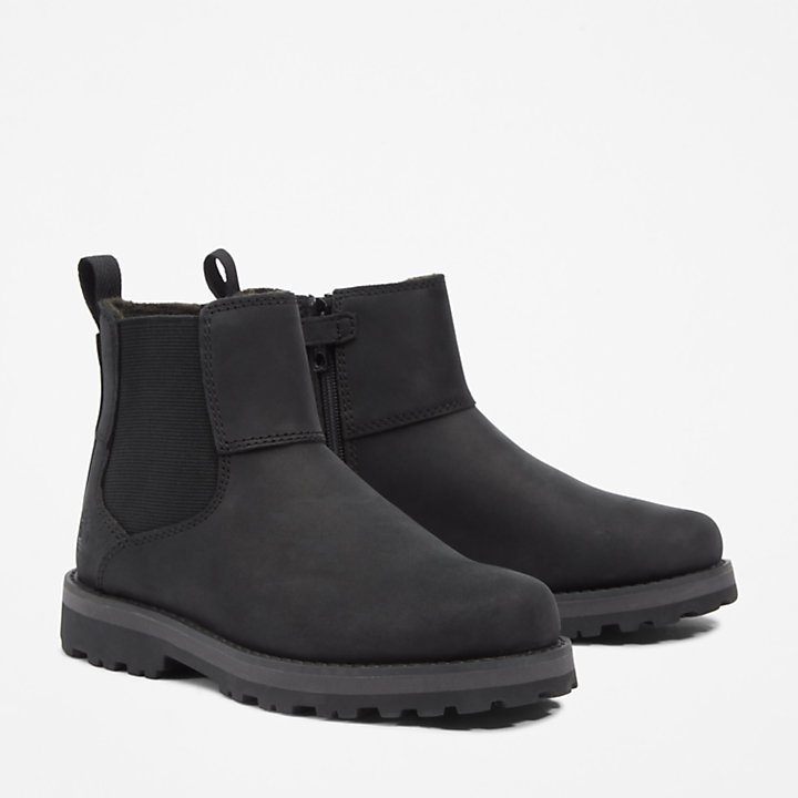 Courma Kid Chelsea Boot für Kinder in Schwarz-