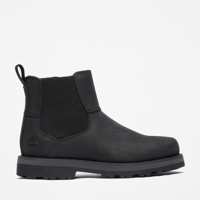 Courma+Kid+Chelsea+Boot+for+Youth+in+Black