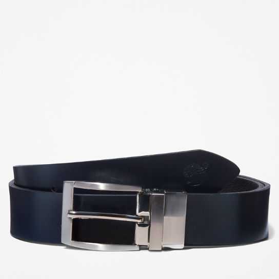Reversible Leather Belt for Men in Navy | Timberland