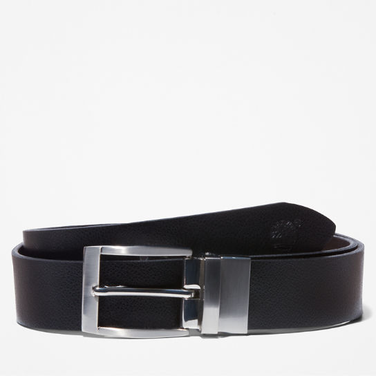 Reversible Leather Belt for Men in Black | Timberland