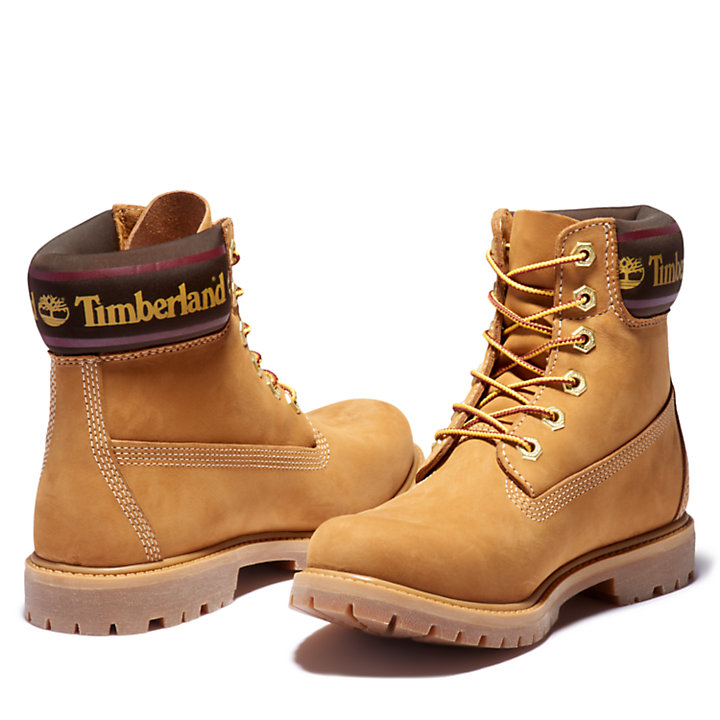 6 Inch Logo Collar Boot for Women in Yellow-
