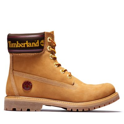 6+Inch+Logo+Collar+Boot+for+Women+in+Yellow