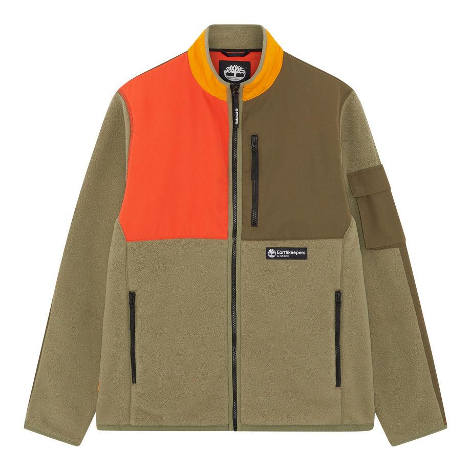 Timberland Earthkeepers® By Raeburn Unisex Recycled Fleece Jacket In Green Green Men, Size XXL