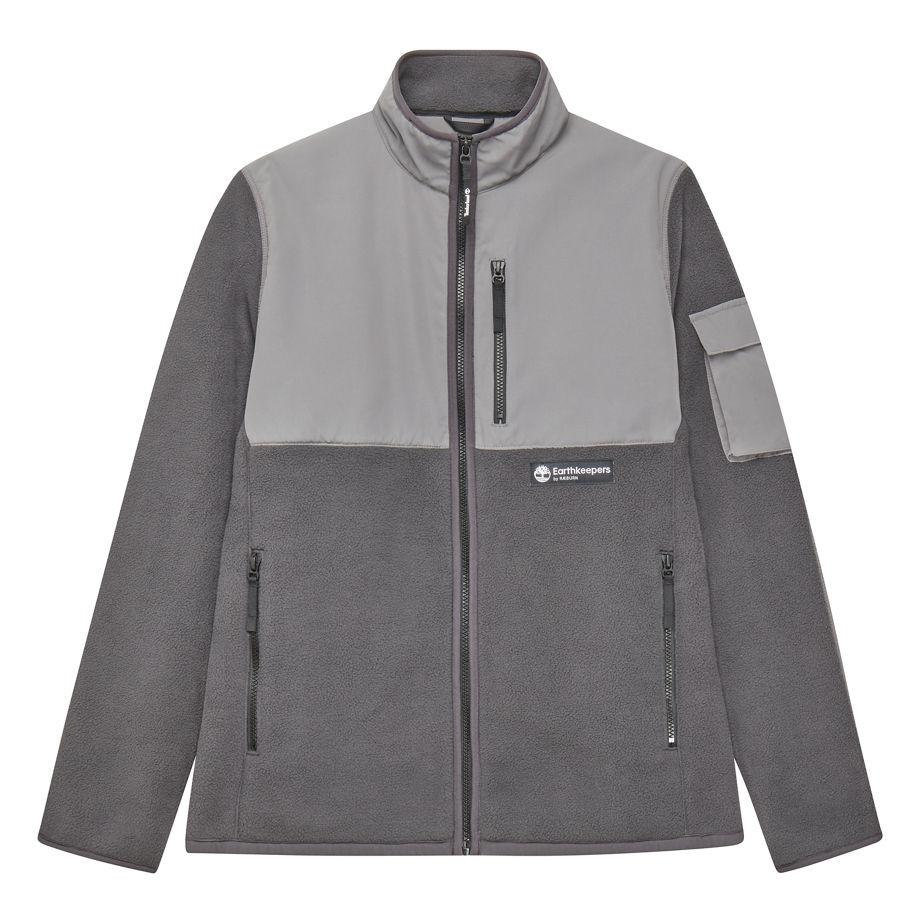 Timberland Earthkeepers® By Raeburn Unisex Recycled Fleece Jacket In Dark Grey Dark Grey Men, Size XXL