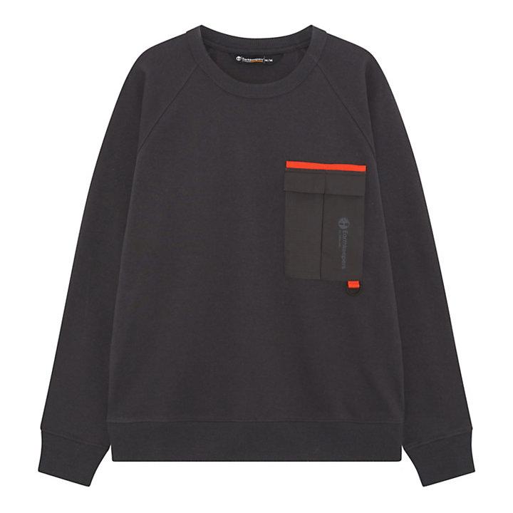 Earthkeepers® by Raeburn All Gender-Sweatshirt mit Tasche in Dunkelgrau-