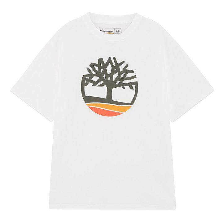 Uniseks Earthkeepers® by Raeburn Logo T-Shirt in wit-