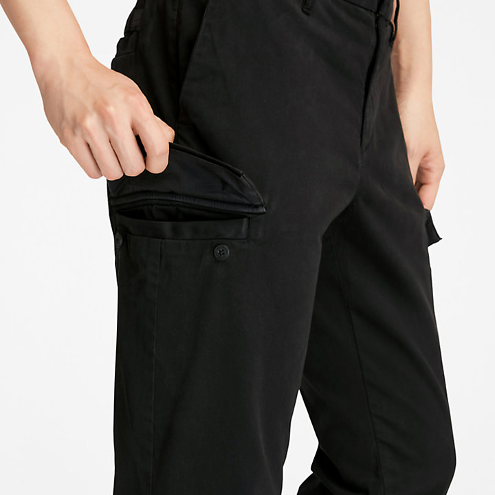 Ultrastretch Cargo Trousers for Men in Black-