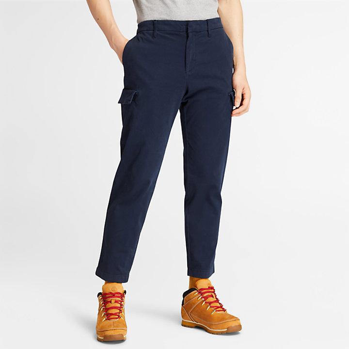 Pantalon cargo ultra-extensible pour homme en bleu marine-