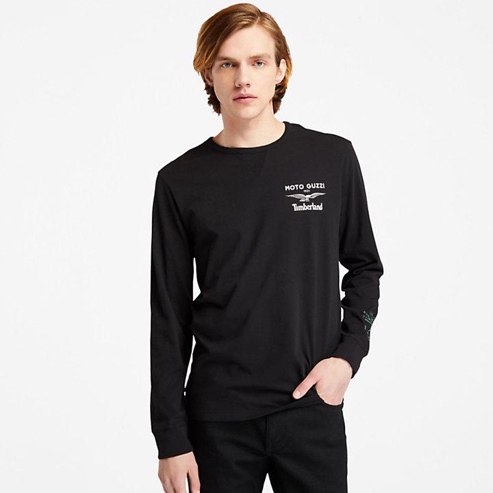 Camiseta de Manga Larga Moto Guzzi x Timberland® para Hombre en color negro-