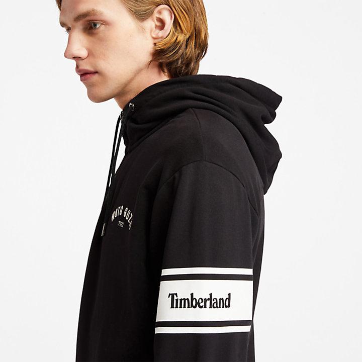 Moto Guzzi x Timberland® Half-zip hoody voor heren in zwart-
