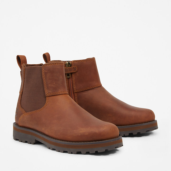 Courma Kid Chelsea Boot für Kinder in Braun-