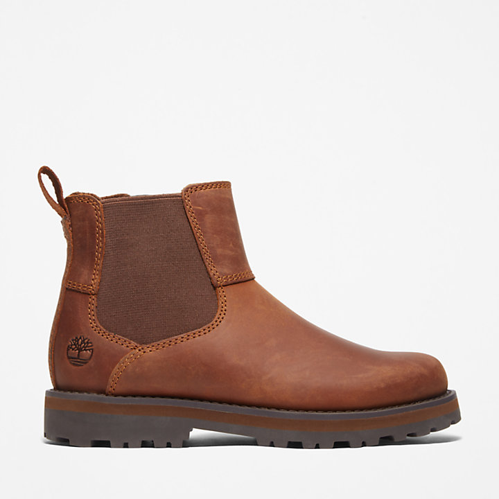 Courma Kid Chelsea Boot for Youth in Brown-