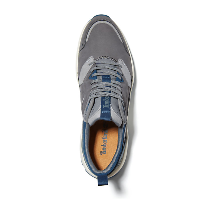 Tree Racer Leather Trainer for Men in Grey-