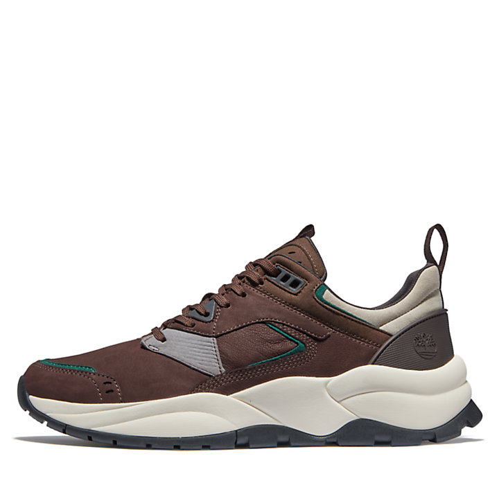 Tree Racer Leather Trainer for Men in Brown-