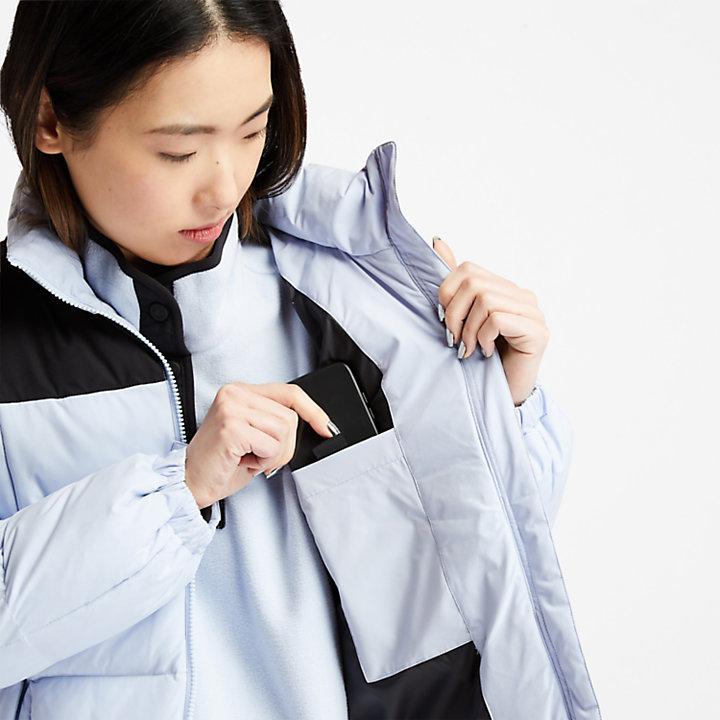 Doudoune sans duvet pour femme en bleu clair-