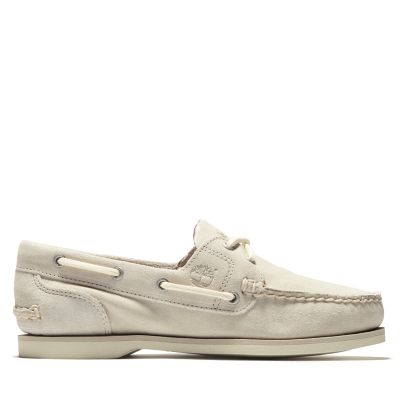 Classic+Boat+Shoe+for+Women+in+White