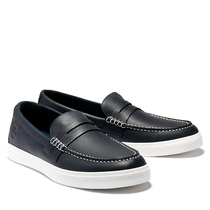 Union Wharf Penny Loafer voor Heren in marineblauw-