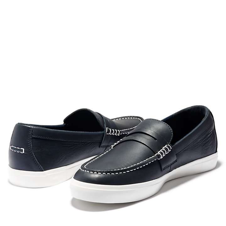 Union Wharf Penny Loafer für Herren in Navyblau-