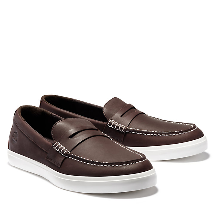 Union Wharf Penny Loafer für Herren in Braun-