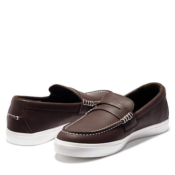 Union Wharf Penny Loafer for Men in Brown-