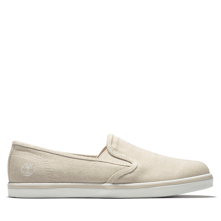 Dausette Canvas Slip-On for Women in Beige-