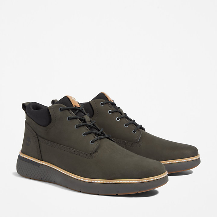 Cross Mark Plain-toe Chukka for Men in Dark Green-