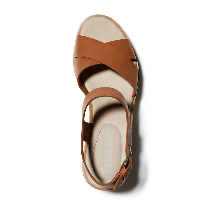 Sandale compensée Koralyn pour femme en marron-