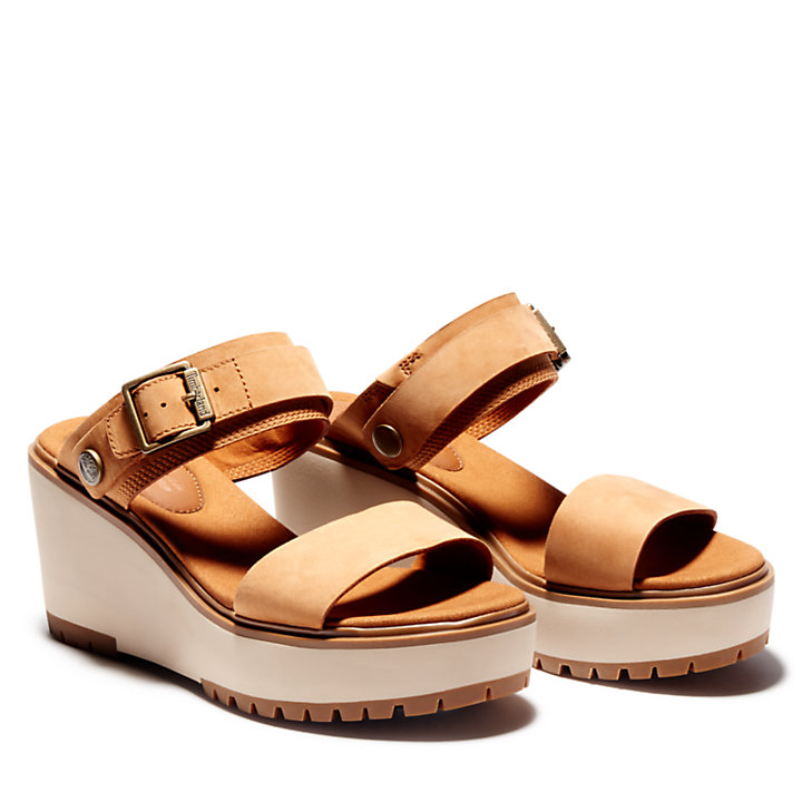 Koralyn Wedge Sandal for Women in Brown-