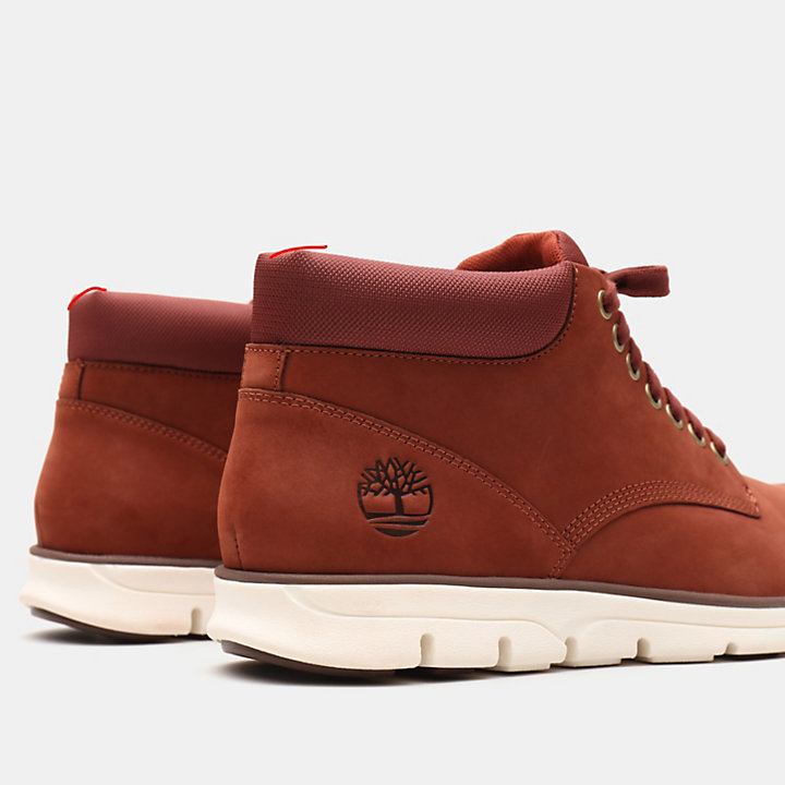 Bradstreet Leather Chukka for Men in Red-