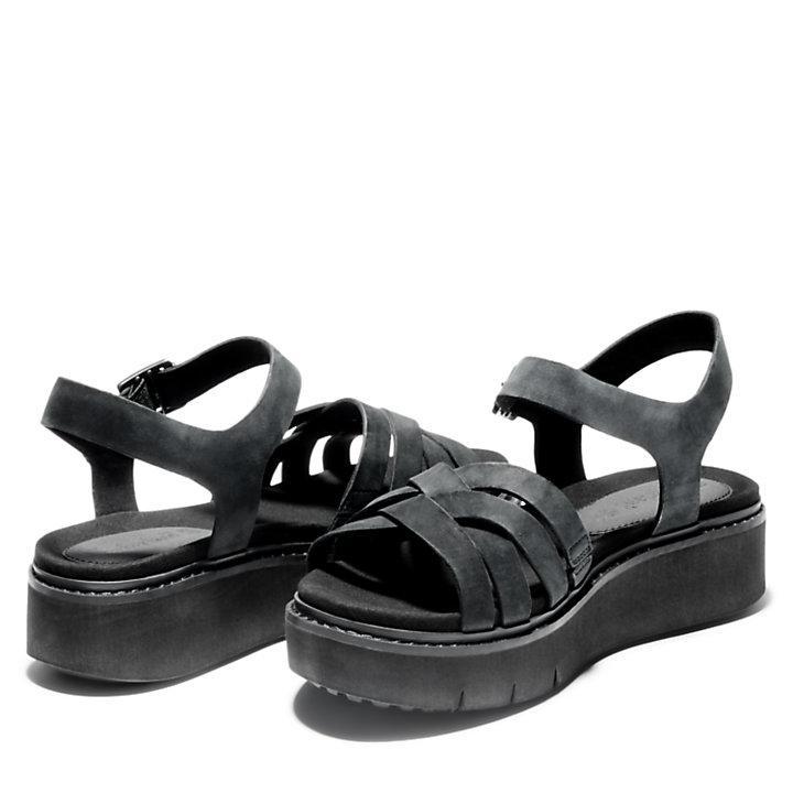Safari Dawn Strappy Sandal for Women in Black-