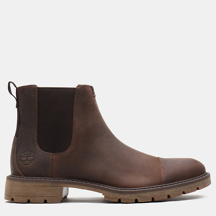 Elmhurst Chelsea Boot for Men in Dark Brown-